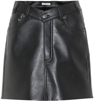 Balenciaga Faux leather miniskirt