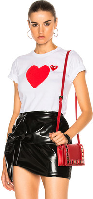 Comme des Garcons Reverse Heart Tee in White | FWRD