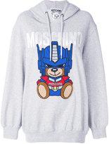 Moschino Transformer bear oversized hoodie - women - Cotton/Polyester/Polyurethane - 36