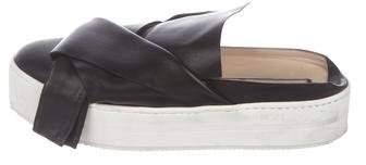 No.21 No. 21 Leather Slide Platform Sandal