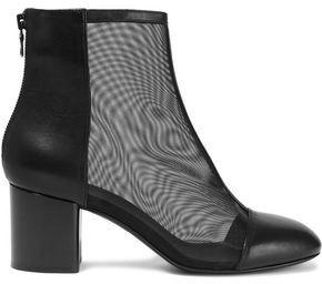 Rag & Bone Drea Mesh-paneled Leather Ankle Boots