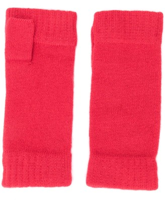 N.Peal Fingerless cashmere gloves