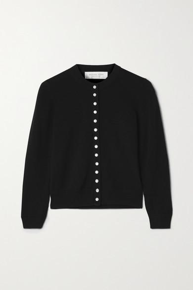 Michael Kors Collection Merino Wool Cardigan - Black