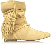 Jerome Dreyfuss Arizona Sand Suede Fringed Boot