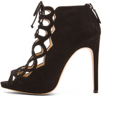 Alexandre Birman Gilca Suede Booties in Black