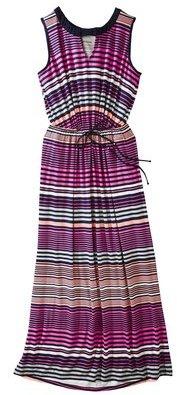 Merona Women's Plus-Size Sleeveless Maxi Dress - Navy/Pink/Purple