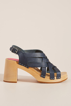 Swedish Hasbeens Vivi Caged Clog Sandals By in Blue Size 36