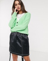 Noisy May lightweight knitted cardigan in mint