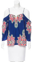 Nicole Miller Paisley Print Long Sleeve Top w/ Tags
