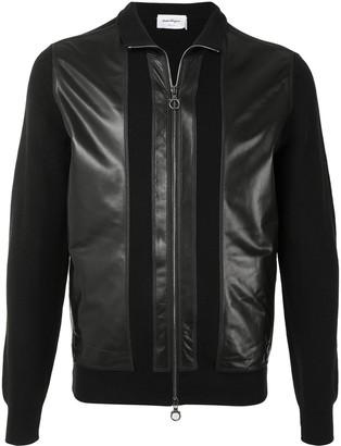Salvatore Ferragamo Leather-Panelled Bomber Jacket