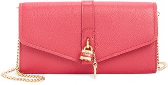 Chloé Aby Long Leather Wallet on a Chain