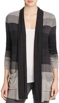 Three Dots Striped Draped Cardigan