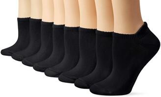 Hanes Women's Comfortblend 8 Pack Heel Shield Socks