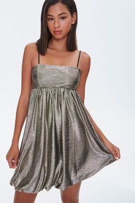 Forever 21 Metallic Fit Flare Dress