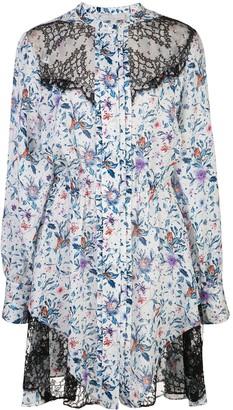 Fleur Du Mal Daphne lace panel dress