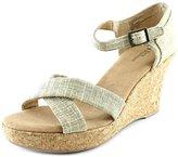 White Mountain Outshine Women US 11 Tan Wedge Sandal
