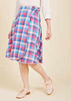 ModCloth Wrapped in Imagination Reversible Skirt in L