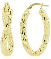Bloomingdale's Oval Hoop Earrings in 14K Yellow Gold - 100% Exclusive