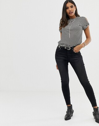 One Teaspoon Free Love skinny jeans-Black