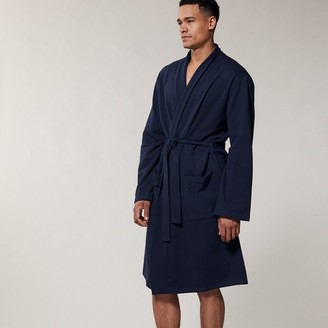 Indigo Men's Essential Reading Robe Dark Navy Large-Extra Large