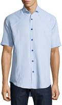 Bogosse Short-Sleeve Sport Shirt, Light Blue