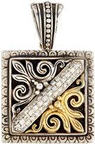 Konstantino Square Pavé Diamond Scroll Pendant