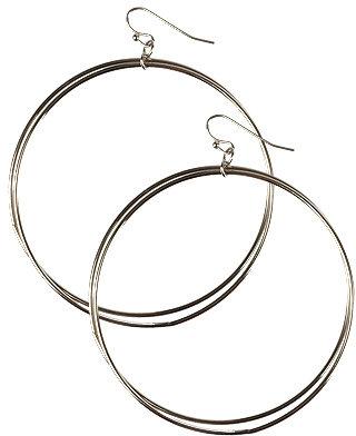 Forever 21 Double Hoop Earring