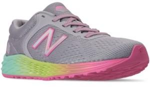 New Balance Little Girls Fresh Foam Arishi V2 Stay-Put Closure Running Sneakers from Finish Line