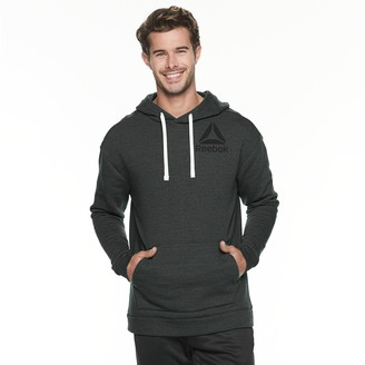 Reebok Men's Training Essentials Marble Melange Logo Hoodie