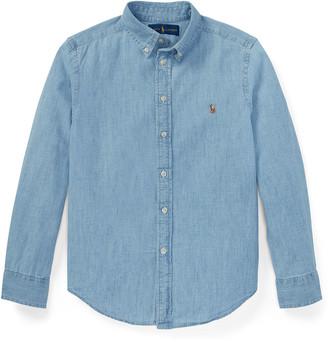 Ralph Lauren Kids Woven Chambray Shirt, Size S-XL