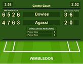 SIGNS 2 ALL Wimbledon Tennis Centre Court Score board Bowles name Vintage Style metal wall sign - Size approx400mm x 300mm