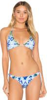 Rococo Sand Triangle Bikini Top in Blue. - size XS (also in )