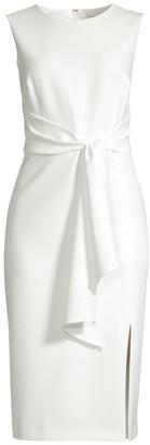 Shoshanna Nuri Crepe Tie-Front Dress
