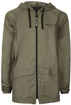 Nicce Khaki Hooded Lightweight Jacket
