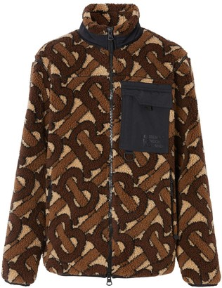 Burberry Monogram-Pattern Fleece Jacket