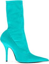 Balenciaga Knife velour booties - women - Leather/Velvet - 35.5