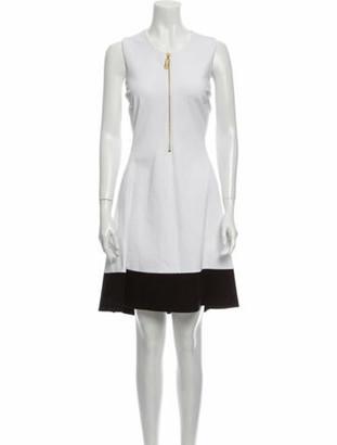 Donna Karan Crew Neck Knee-Length Dress w/ Tags White