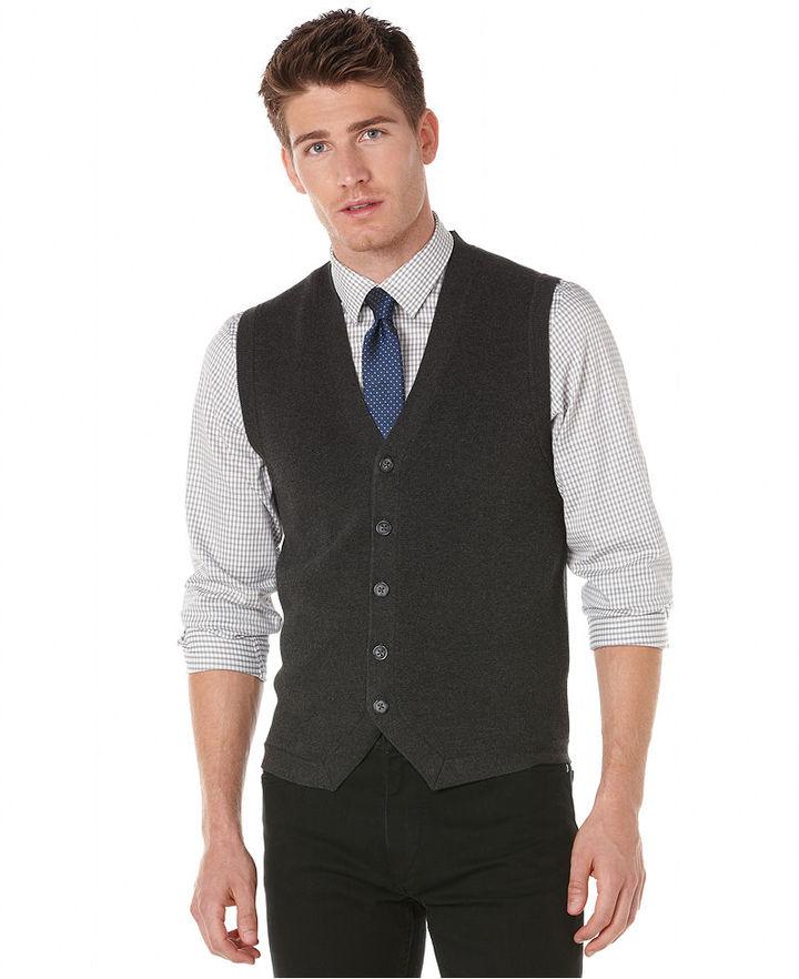 Perry Ellis Vests, Button Front Sweater Vest