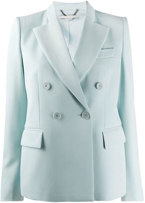 Stella McCartney Double-Breasted Peaked-Lapel Blazer