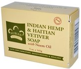 Nubian Heritage Nubian Indian Hemp and Haitian Vetiver Soap, 5 Ounces (Pack of 3)