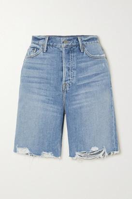 GRLFRND Marjan Distressed Denim Shorts