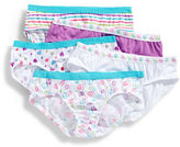 Maidenform 5 Pack Girls 2 to 6 Peace Print Hipster Briefs