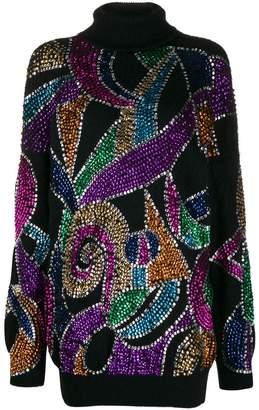 Amen sequin embroidered jumper