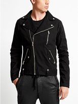 GUESS Men's Denim Moto Jacket in Ashland Wash