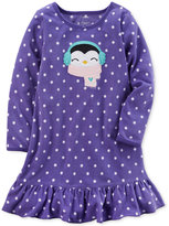 Carter's Dot-Print Penguin Nightgown, Little Girls (4-6X) & Big Girls (7-16)