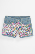 Flowers by Zoe Sequin Denim Shorts (Big Girls)