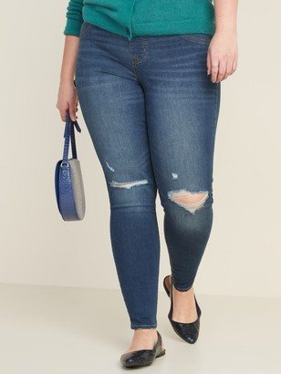 Old Navy Mid-Rise Distressed Rockstar Jeggings for Women