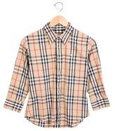 Burberry Boys' Collared Nova Check Shirt