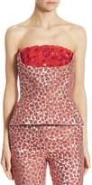 Oscar de la Renta Women's Floral Embroidered Bustier