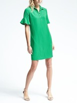 Banana Republic Flutter-Sleeve Polo Dress
